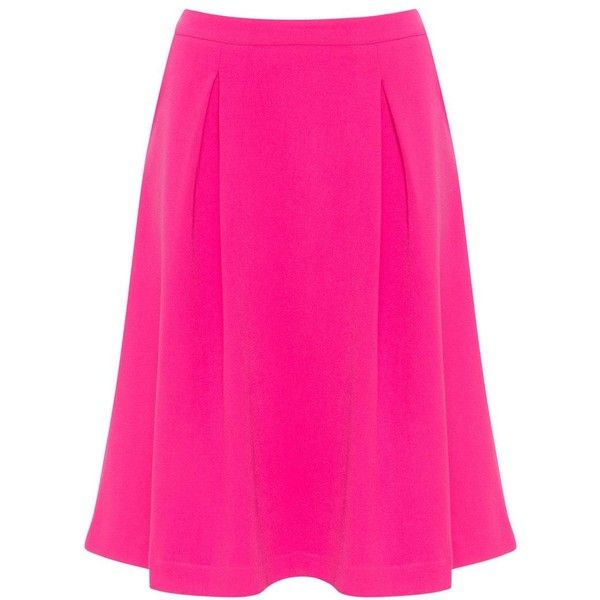 5ba5bdda175 Arched Eyebrow for navabi Pink Plus Size Flared midi skirt (315 PEN) ❤ liked