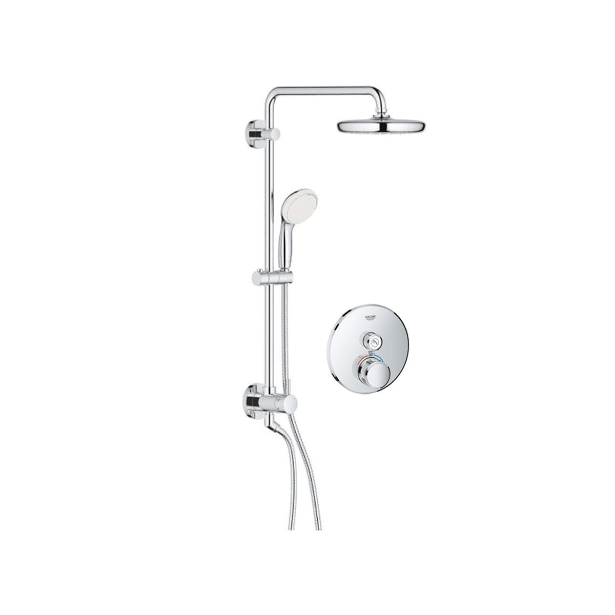 Grohe Gss Retrofit 8 Grohe Shower Systems Chrome