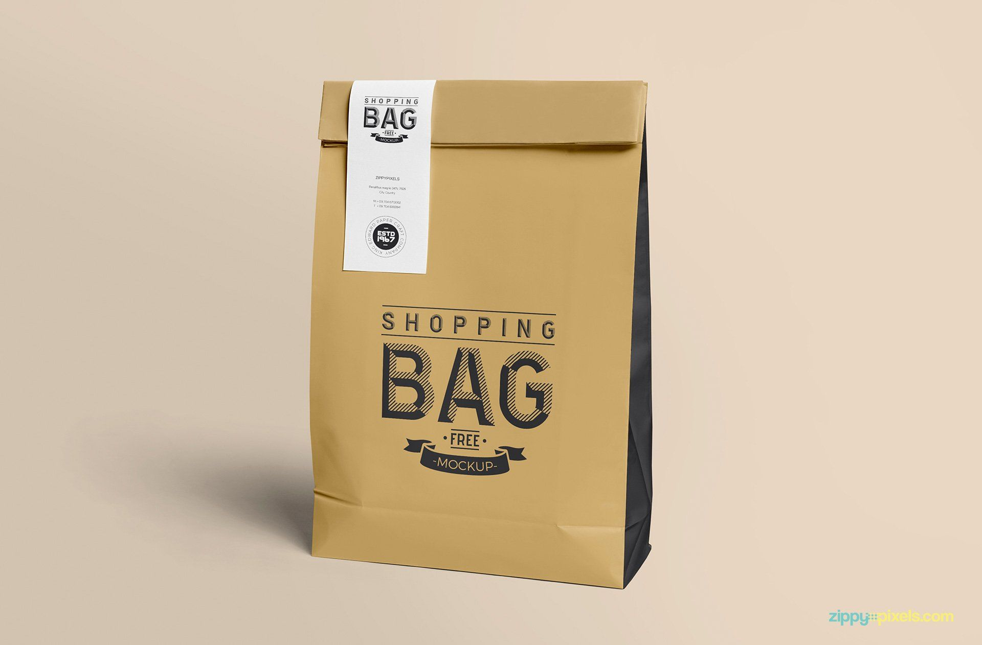 Download Free Awesome Paper Bag Mock Up Zippypixels Free Packaging Mockup Bag Mockup Paper Bag Design