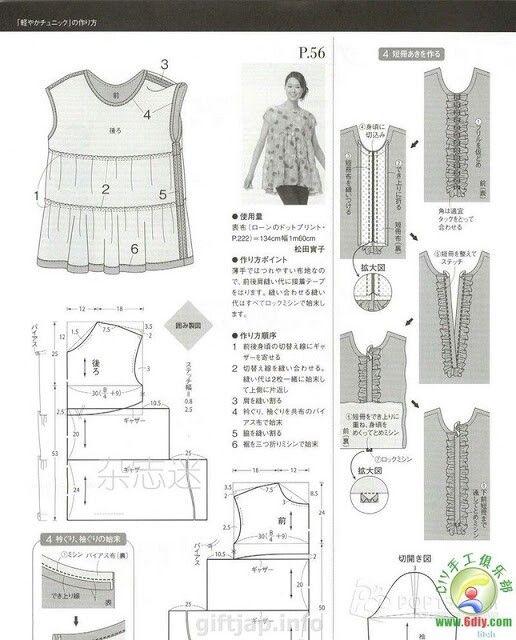 Pin de Л Ховрах en китай | Pinterest | Patrones, Costura patrón y ...