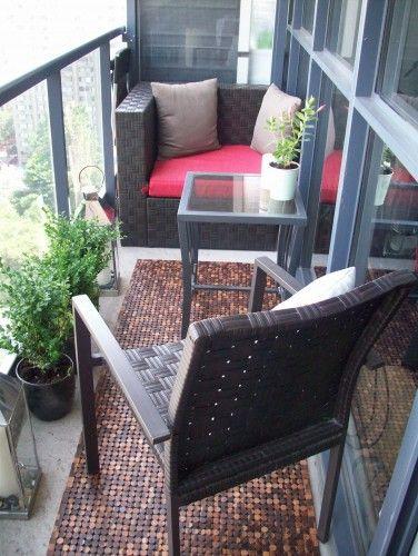About the size of my patio. | Condo balcony, Balcony ...