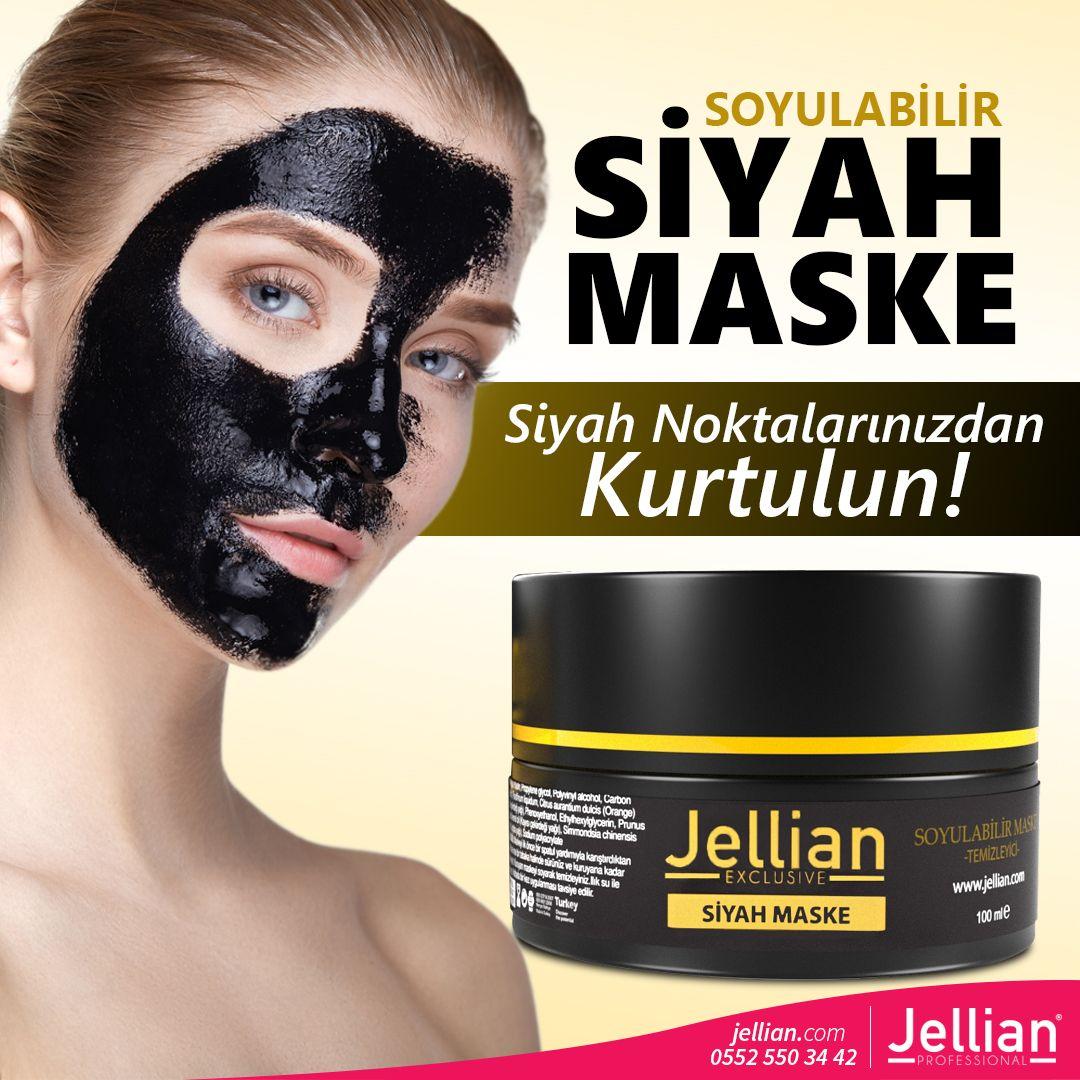 jellian Soyulabilir Siyah Maske: Sivilce ve siyah ...