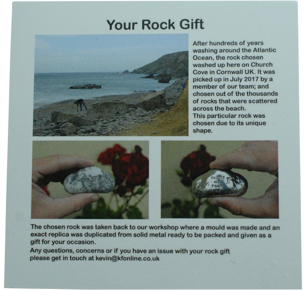 12th anniversary you are my rock gift idea solid metal