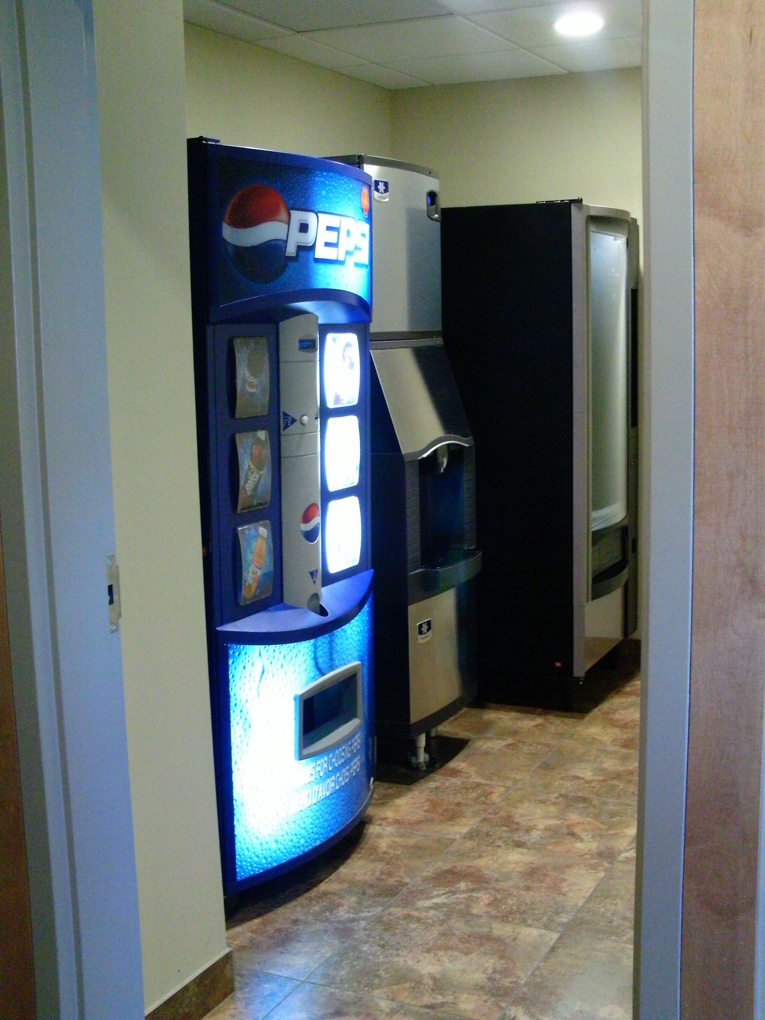 As You Can See This Hotel Lobby Is Fully Equipped Soda Machine Vending Manitowoc Ice