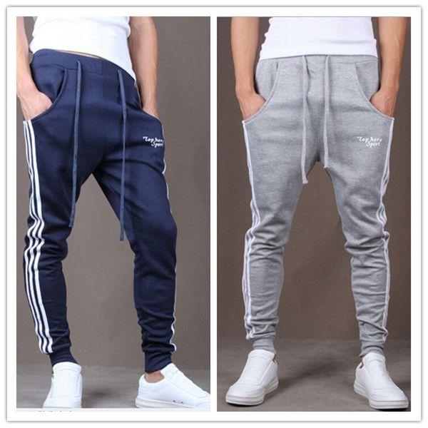 Bodybuilding Fitness Sport Trousers Pants S M L XL XXL XXXL Pattern 3 Blue Grey