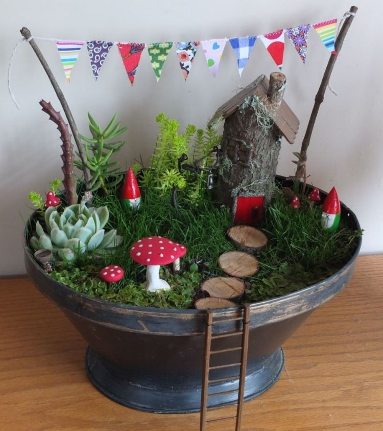 Miniatur Garten wie ein echtes Mrchen anlegen  Garden  Indoor fairy gardens Miniature fairy