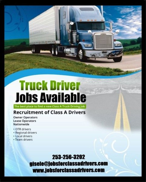 BlssdXDesign Jobs for Truck Drivers  PhotosFlyers