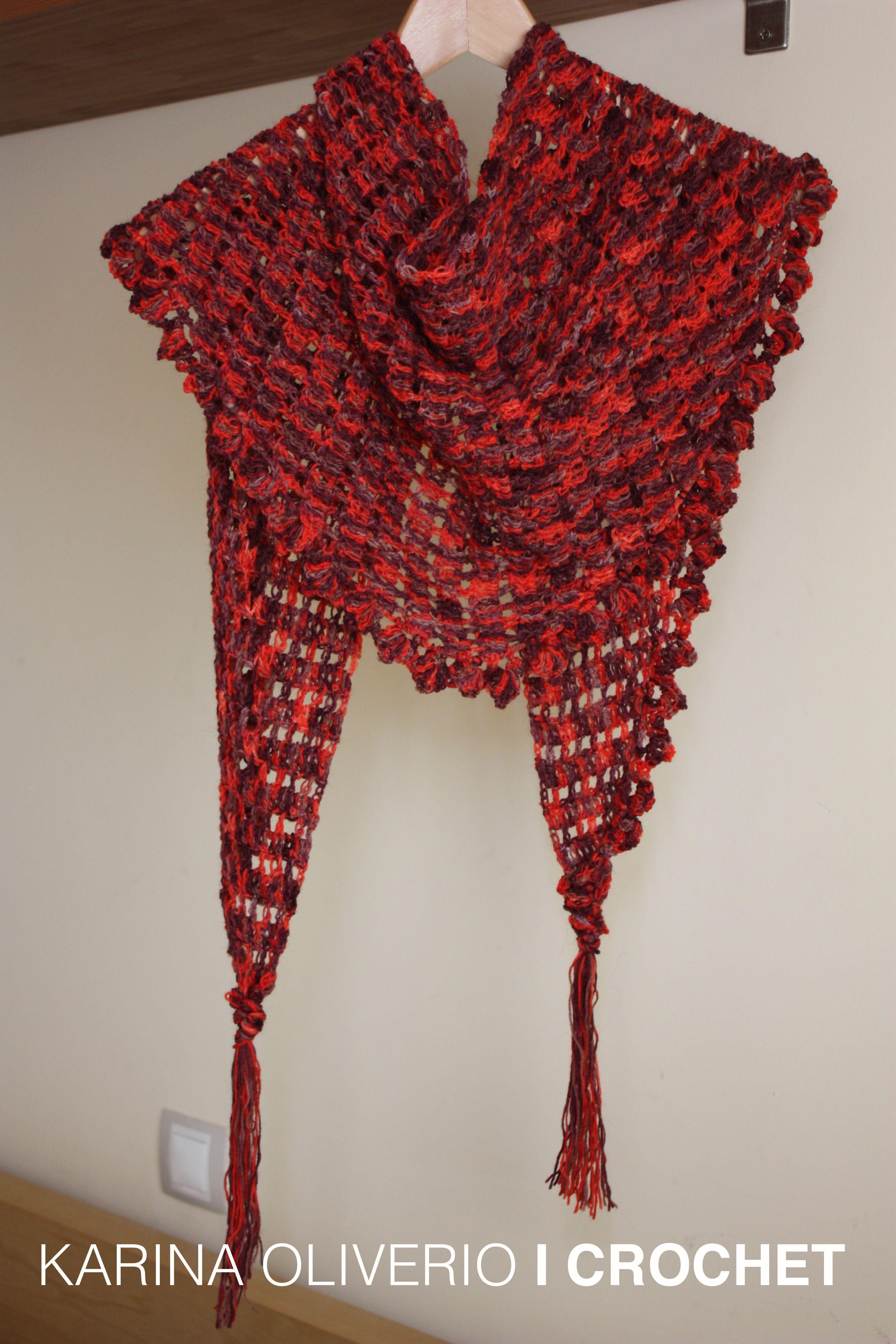 Crochet Baktus Scarf Handmade Needlework Crochet