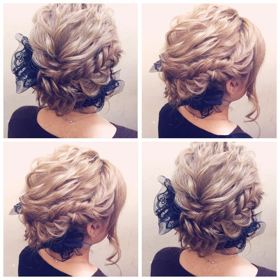 Hairarrenge フィッシュボーンのアップスタイル Hair Hairmake
