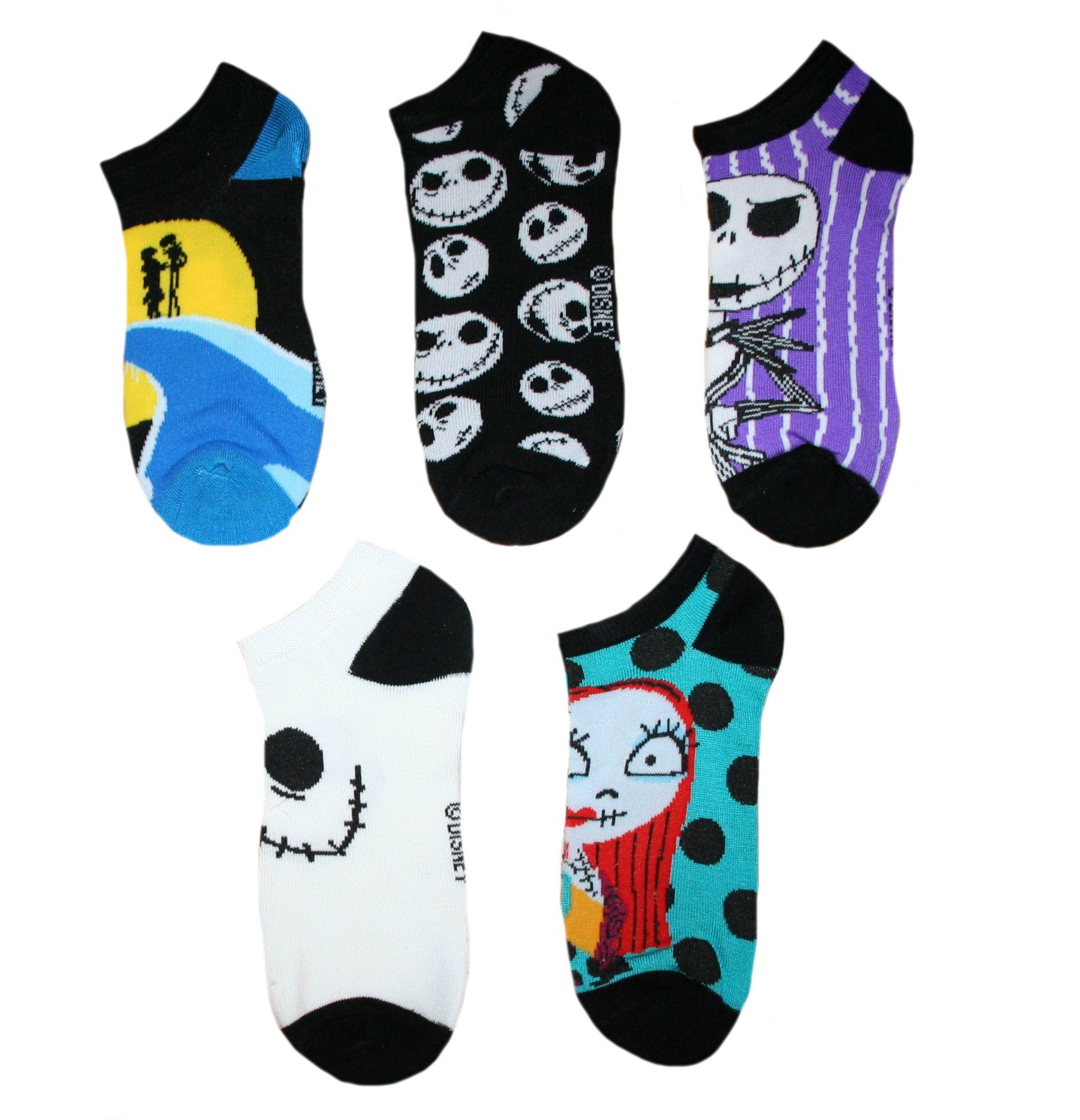 The Nightmare Before Christmas Womens\' Ankle-No Show Socks 5 Pair ...