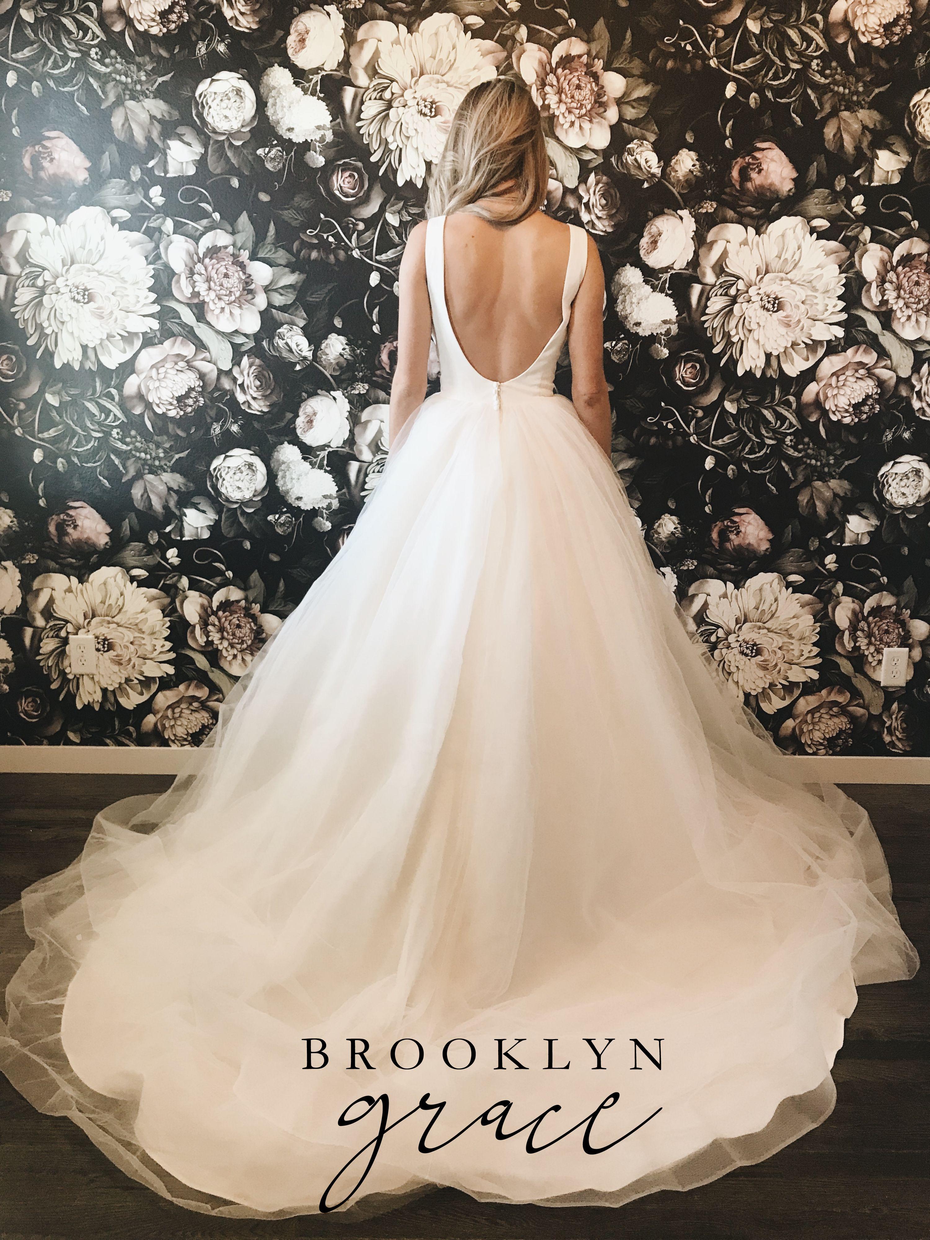 Brooklyn Grace Gown   Wedding dresses beaded, Wedding dress train ...