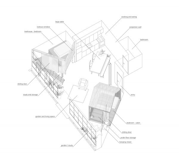 Artists create  tiny house in loft treehugger lovely idea building inside big to host travelling also cabin and treehouse great design inspiration rh pinterest