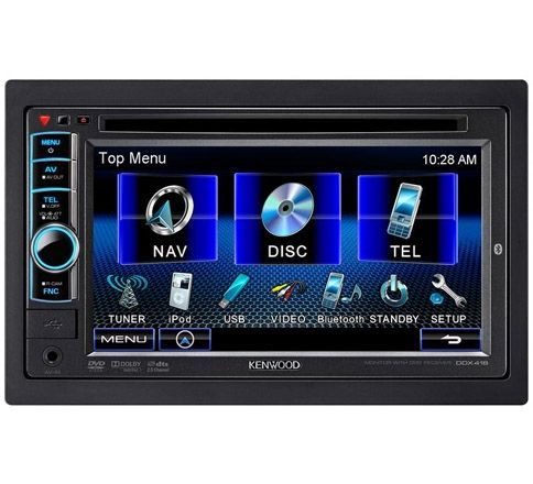 Kenwood P Nav418bt Packaged With Ddx418 And Kna G610 Navigation Multimedia Dvd Receiver With Bluetooth Kenwood Car Dvd Players Car Stereo Installation