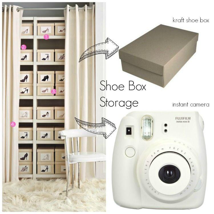 Shoe Box Storage Ideas Collage  sc 1 st  Pinterest & Shoe Storage Ideas | Home decor | Pinterest | Shoe box storage Box ...