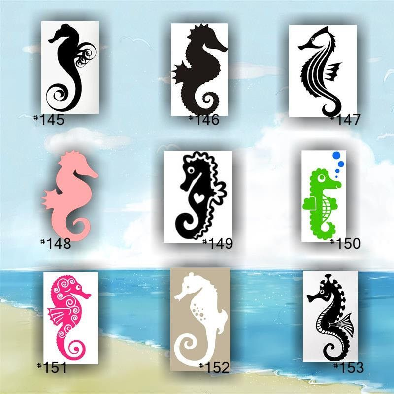 SEAHORSES Vinyl Decals Custom Car Window Stickers - Mermaid custom vinyl decals for car