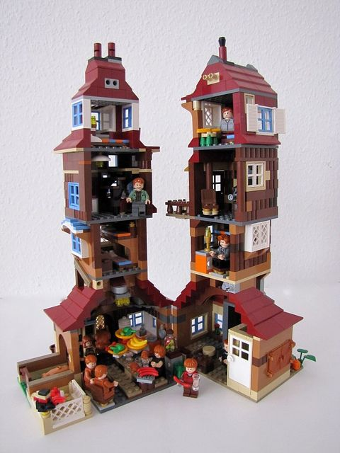 weasley burrow harry potter lego pinterest lego lego ideen and pinwand. Black Bedroom Furniture Sets. Home Design Ideas