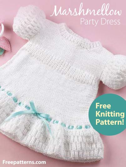 f03768e2414c Free Marshmellow Party Dress Knitting Pattern Download from ...