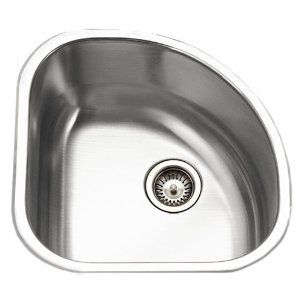Houzer Cst 1212 1 Club 14 By 14 Inch Stainless Steel Corner Bar Sink Sink Corner Sink Kitchen Bar Sink