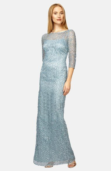 Kay Unger Sequin Lace Colum Gown Available At Nordstrom Formal