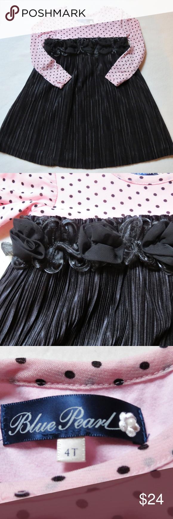 Mulberri Bush Blue Pearl Chelsea Dress Sz 4t Black And Pink Dress Girls Blue Dress Little Girl Pageant Dresses [ 1740 x 580 Pixel ]