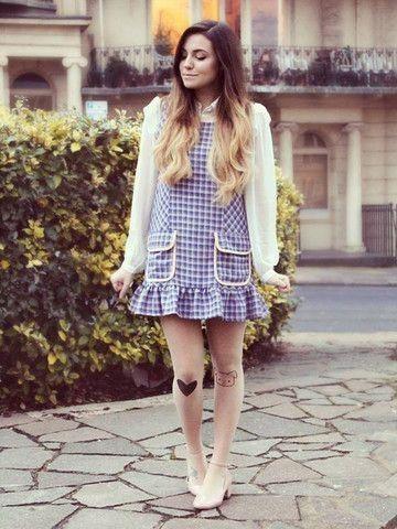 Marzia Bisognin wearing Pug and Heart tights! CutiePieMarzia!