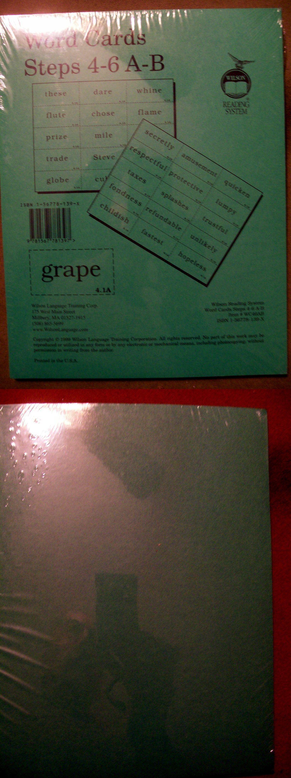 Grade School Wilson Reading System Word Cards