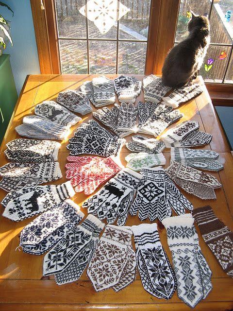 Norwegian patterns. Wow! | Knitting | Pinterest | Guantes, Noruega y ...