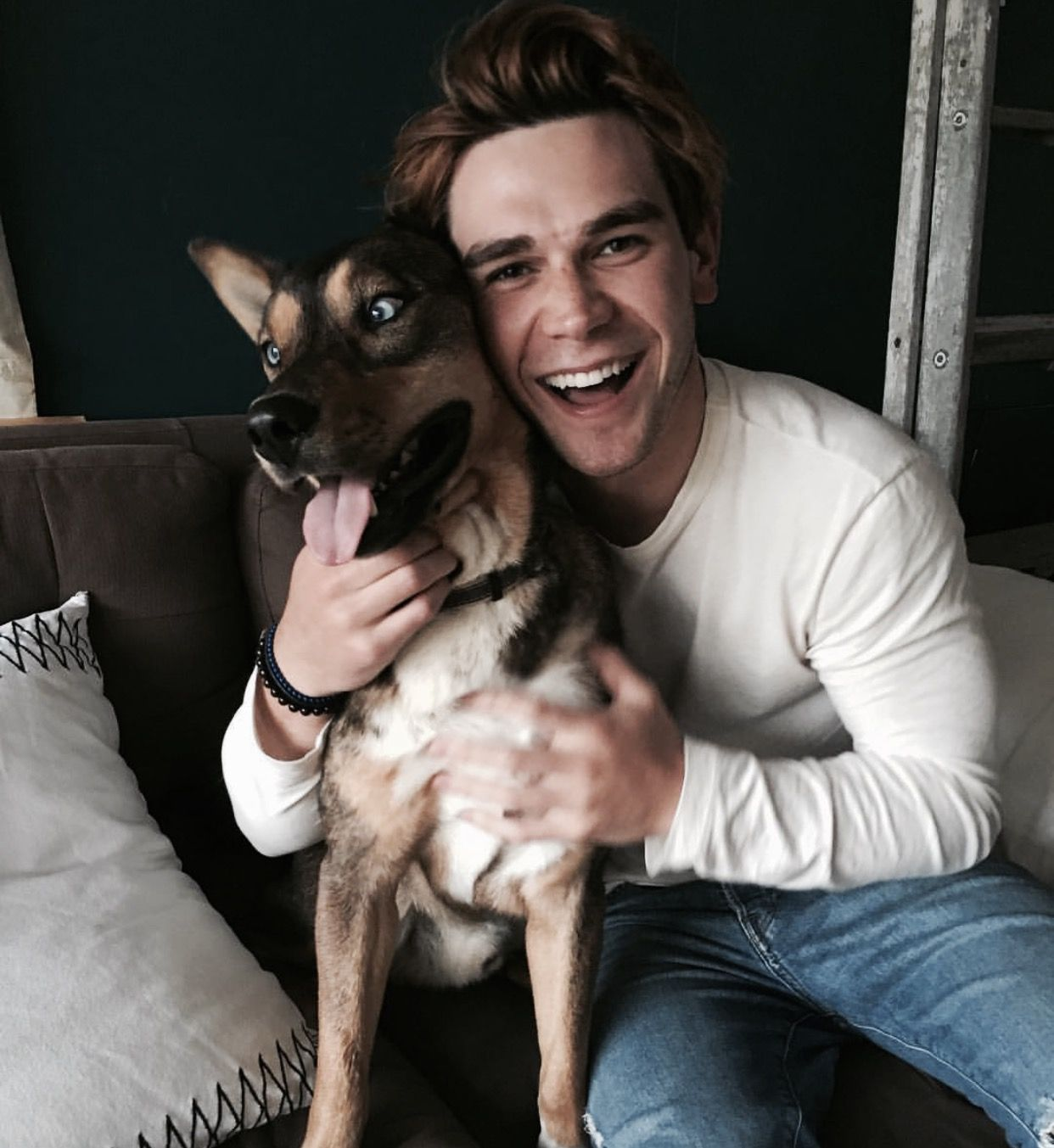Celebrities And Their Pets Celebrity Riverdale Star With His