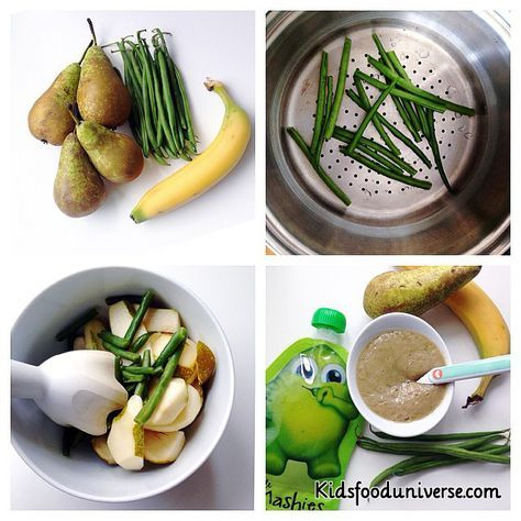 Green beans banana and pear puree 6m this might seem as a weird baby food recipes green beans forumfinder Gallery