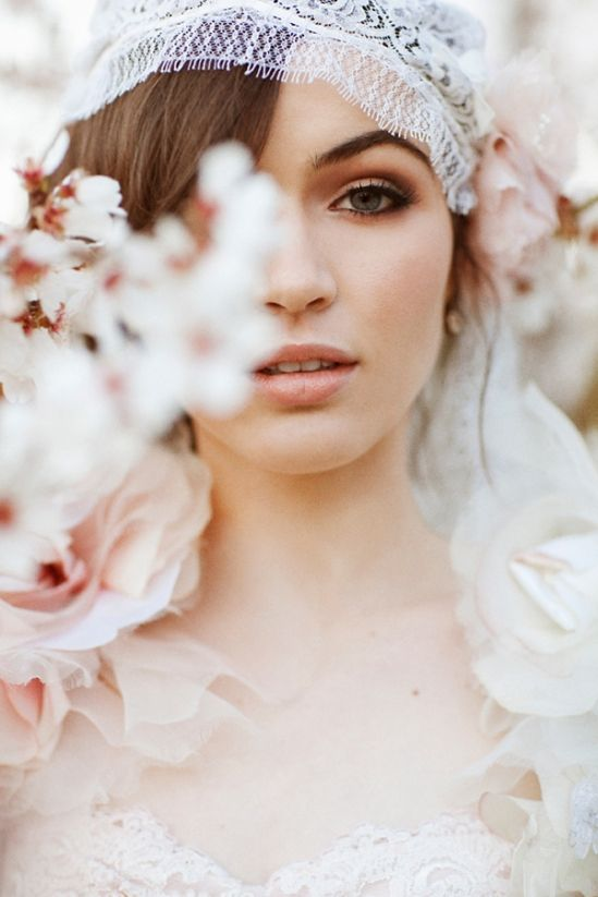 I want my makeup like this! Almond Orchard Wedding Fashion » Love Notes Wedding Blog