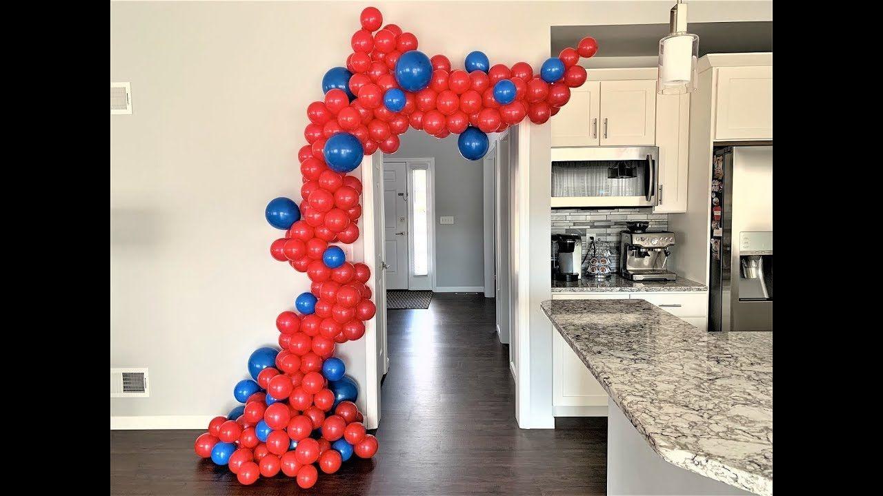 Balloon Garland DIY Spider man Inspired How To