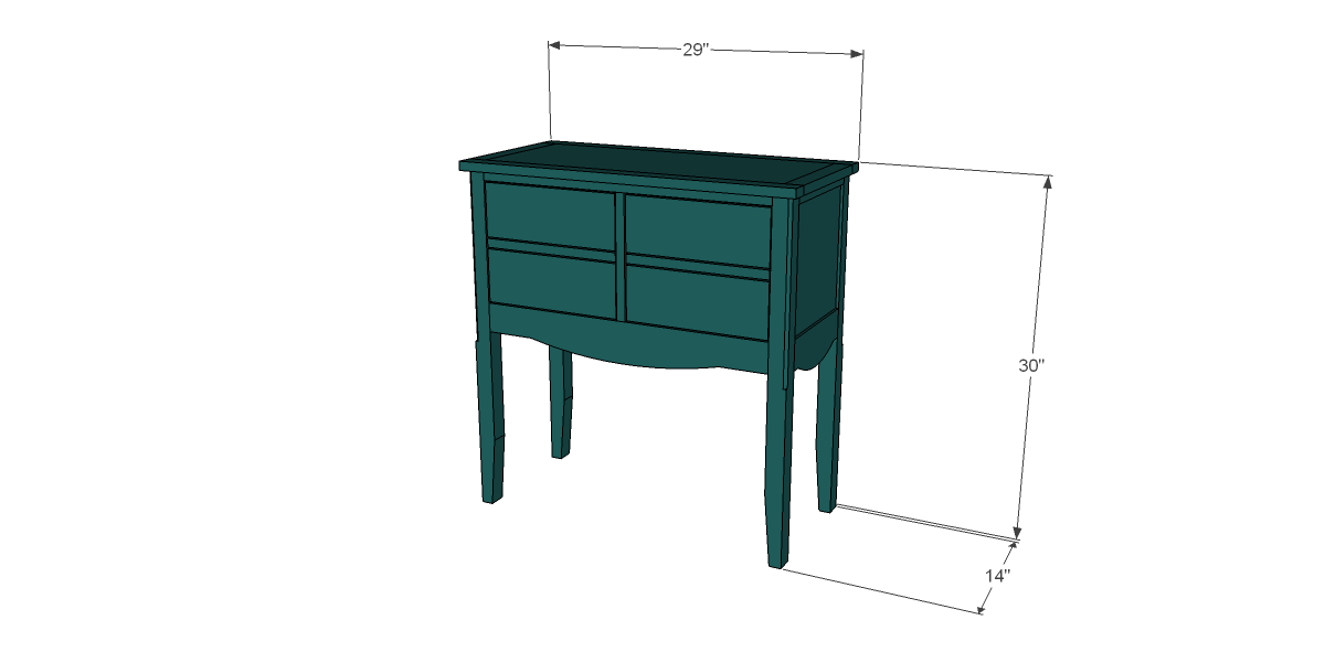 Free plans for this Seventh Ave Inspired Janikka Table