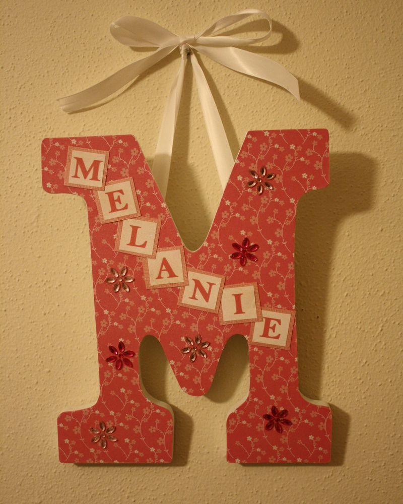 Wooden Letter With Name For The Home Wooden Letters Lettering