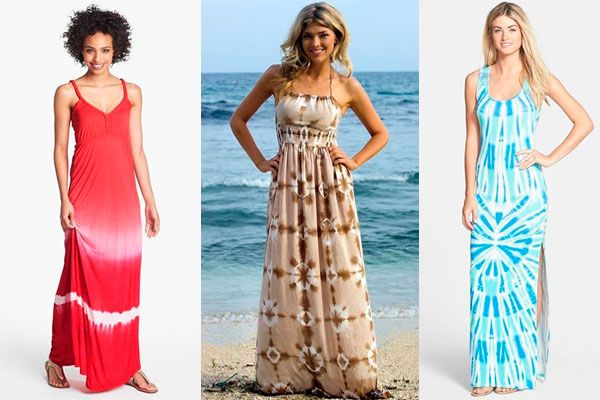Vestidos largos casuales para la playa