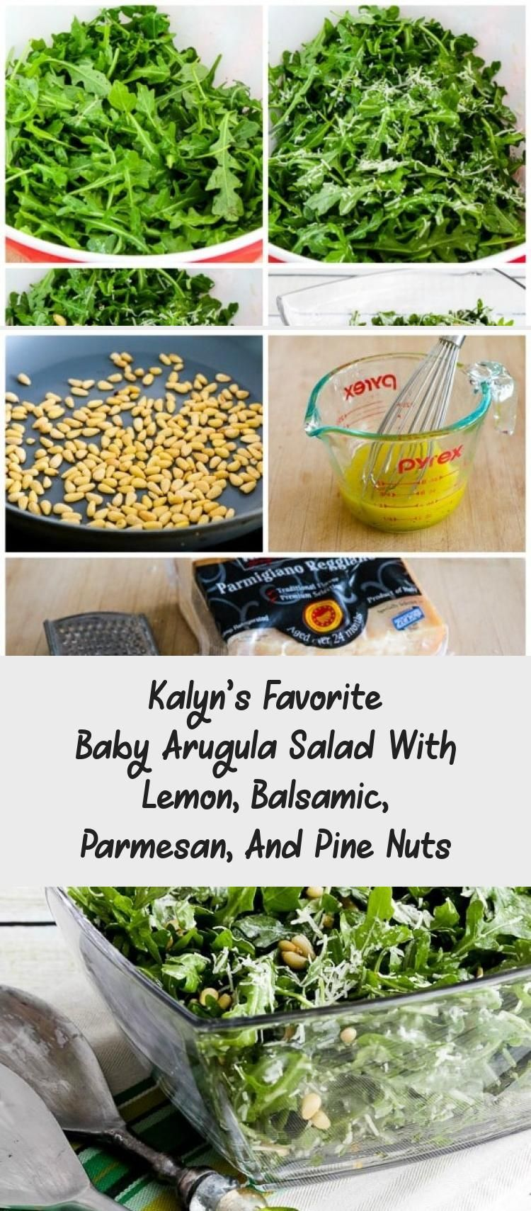 Kalyn's Favorite Baby Arugula Salad With Lemon, Balsamic, Parmesan, And Pine Nuts – Recipes For Dinner