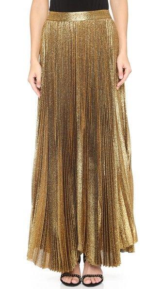 c2b4dc647 Katz Sunburst Pleated Maxi Skirt | Pleats, Please | Brown maxi ...