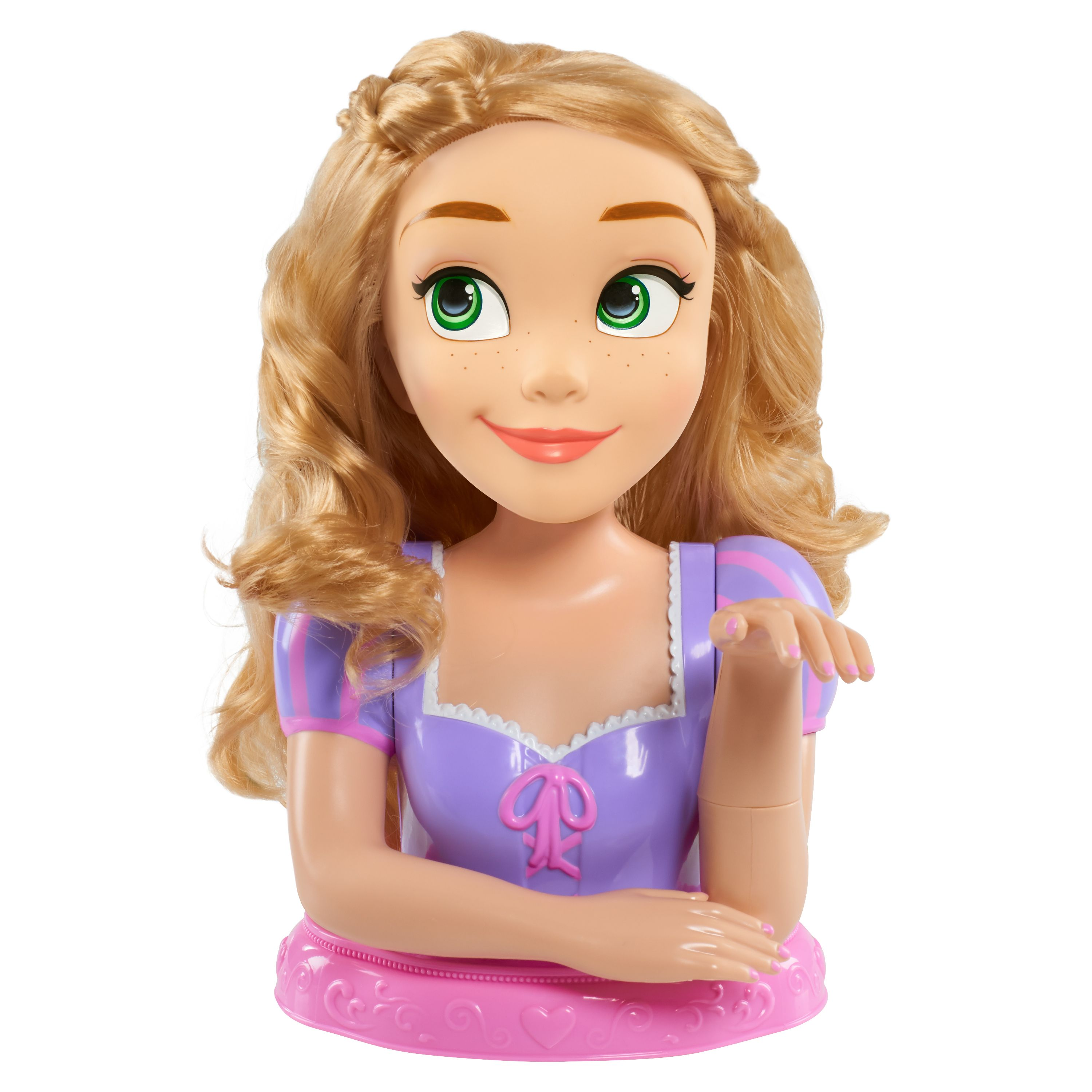 The Disney Rapunzel Styling Head Holds Endless Hair Play Possibilities Rapunzel Features Her Iconic Long Blonde Baby Doll Accessories Baby Girl Toys Rapunzel