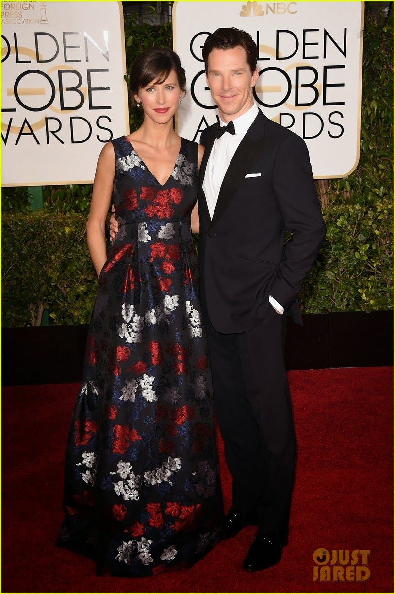 Benedict Cumberbatch Brings His Pregnant Fiancee Sophie Hunter to the Golden Globes 2015