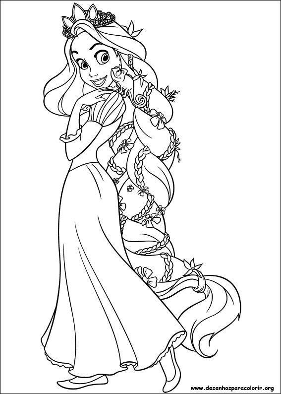 Desenhos Para Colorir Rapunzel Rapunzel Para Colorir Desenhos