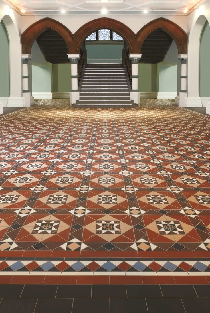 Geometric floor tiles are part of Britain\'s heritage and were used ...
