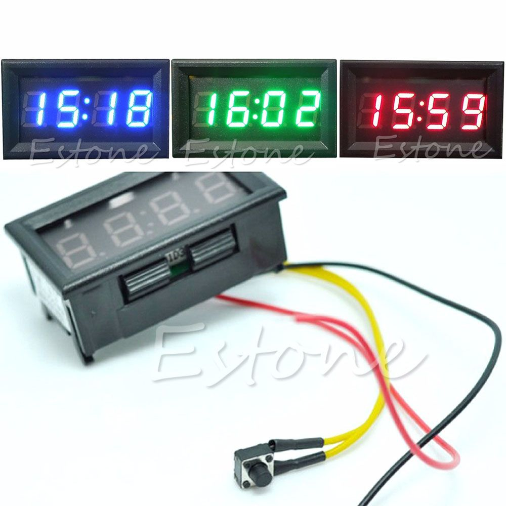 2019 New Hot Sale Led Display Digital Clock 12v 24v Dashboard Car Motorcycle Accessory 1pc Drop Shipping New In 2020 Dashboard Car Digital Clocks Clock