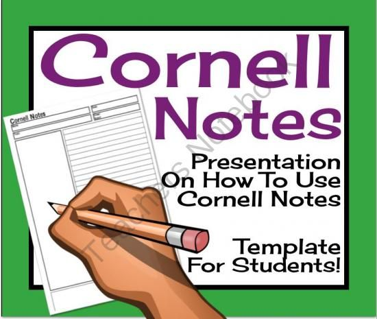 Cornell Notes: Powerpoint Presentation & Printable Template from ...