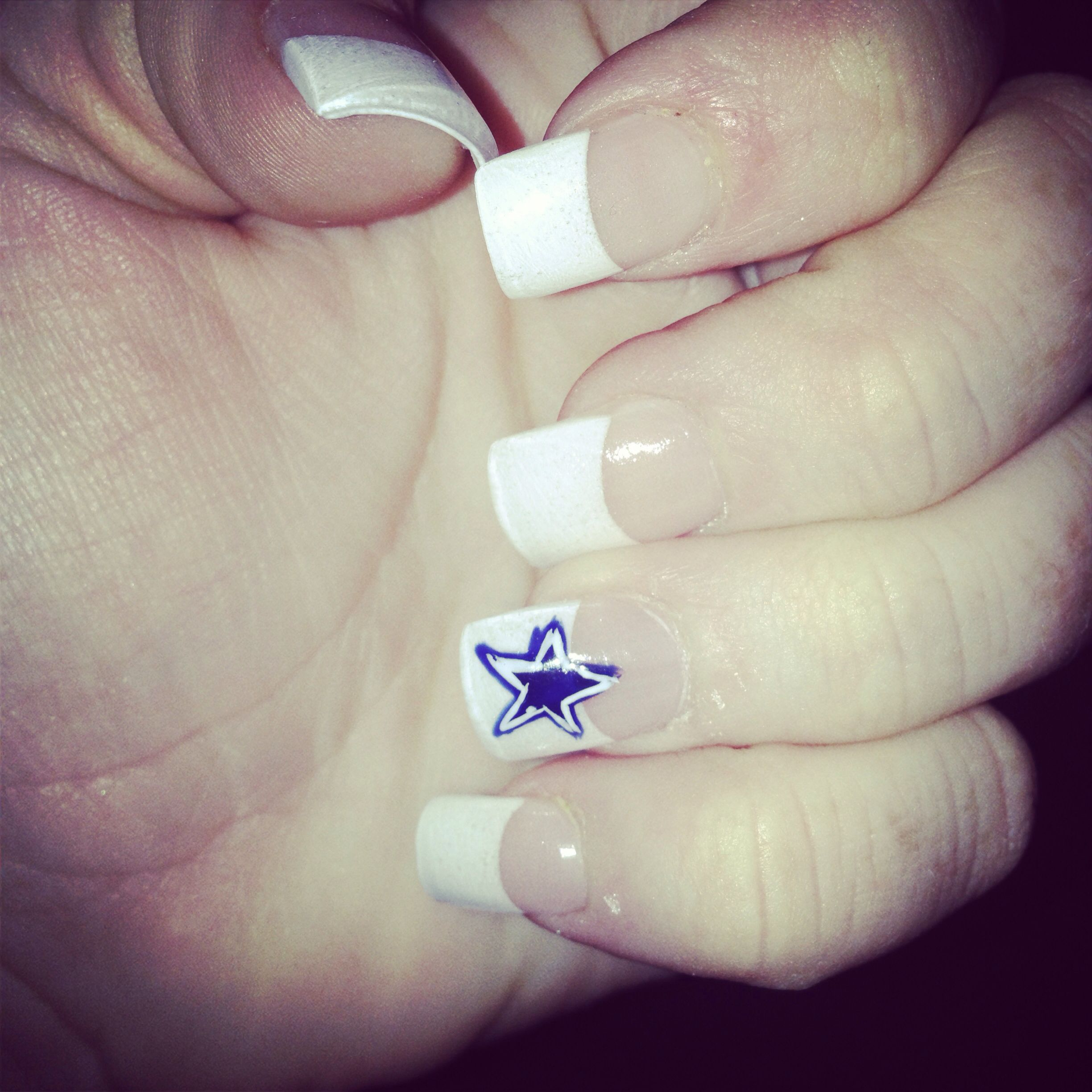 Dallas Cowboys nail art | Hair, clothes, nails, Fashion | Pinterest ...