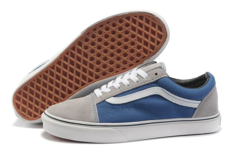 f966e77618 Womens Vans Classics Suede Old Skool Blue Grey