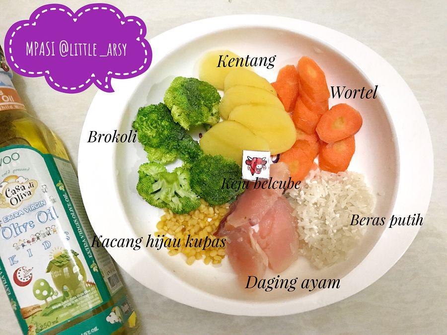 Mpasi 4 Bintang Little Arsy Hari Ke 4 Baha Resep Makanan Bayi Makanan Balita Makanan Bayi