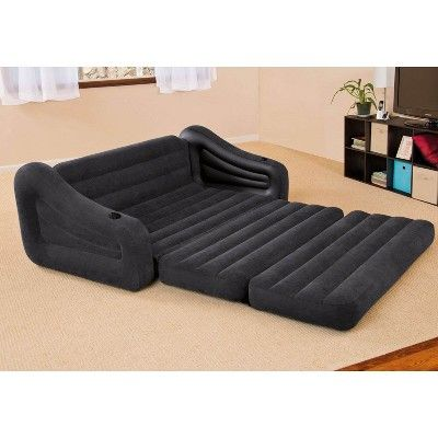 Intex Inflatable Queen Size Pull Out Futon Sofa Couch Sleep Away