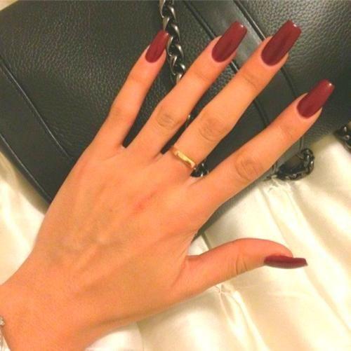 Red Nails Acrylic Red Acrylic Nails Burgundy Nails Dark Nails