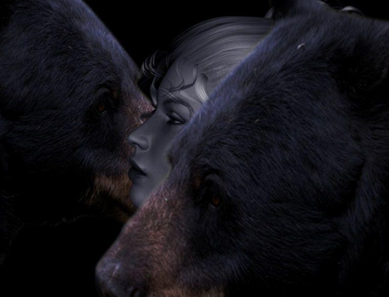 mujer de oso bear woman