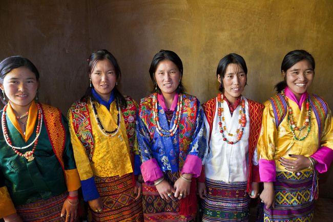 Bhutanese People On Offset Bhutanese People Photo
