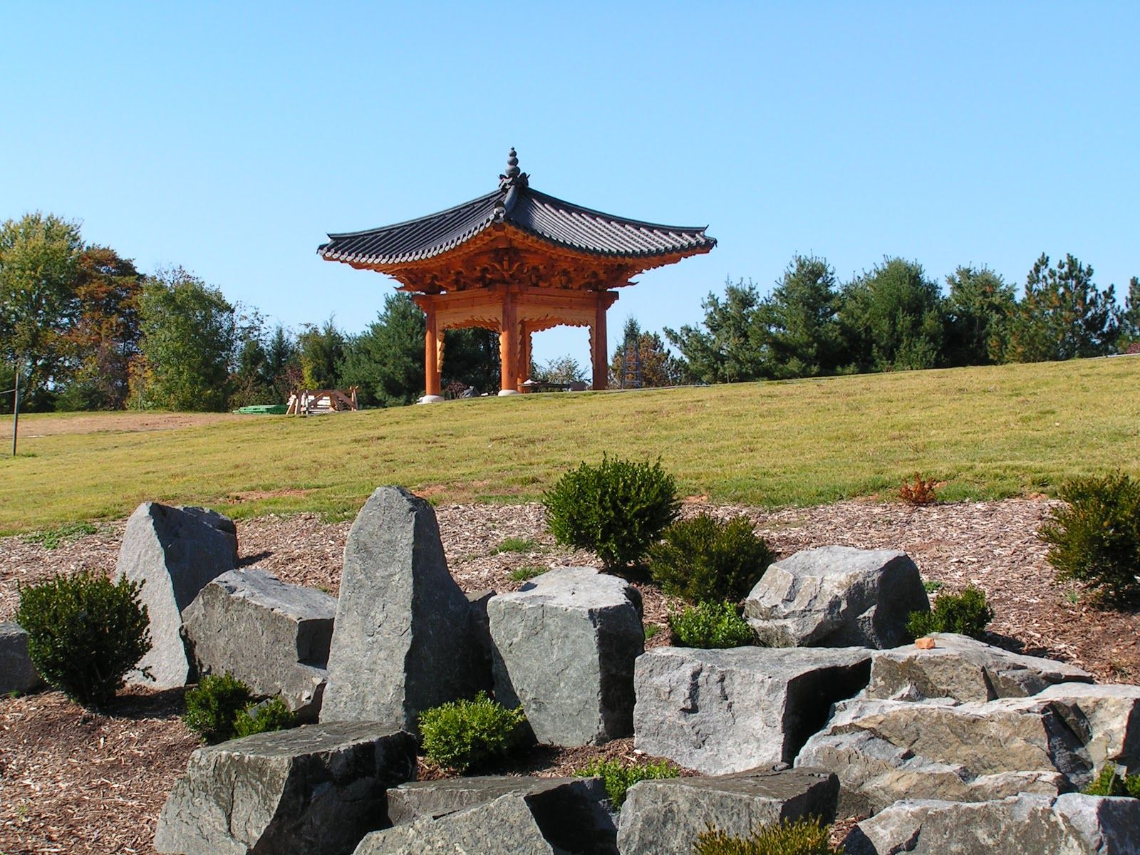 The Korean Bell Garden is one of the newer additions
